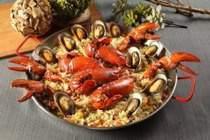 天成飯店集團-饗聚宴席 西班牙龍蝦海鮮飯