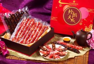 天成飯店集團 禮遇貴人年節伴手禮-花開富貴廣式肝臘腸禮盒